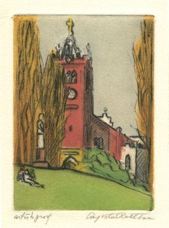 Гравюра Rathbone - Old St. Mary's, San Francisco