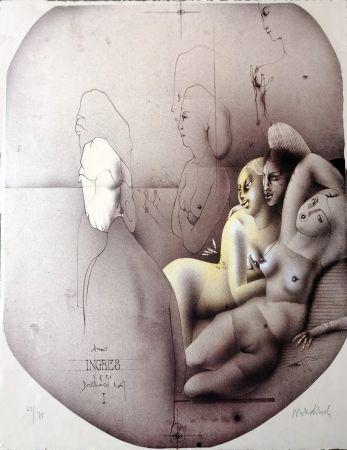 Литография Wunderlich - Omaggio a Ingres