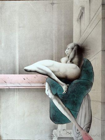 Литография Wunderlich - Omaggio a Michelangelo
