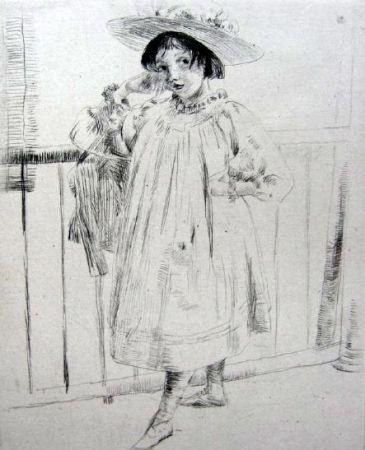 Гравюра Сухой Иглой Weir - On the Porch
