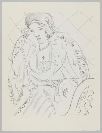 Литография Matisse - Orientale à la croix trifoliée