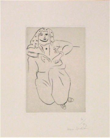 Гравюра Сухой Иглой Matisse - Orientale Assise, Voile Sur La Tête