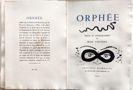 Иллюстрированная Книга Cocteau - ORPHÉE. avec 41 LITHOGRAPHIES ORIGINALES DE JEAN COCTEAU (1944)