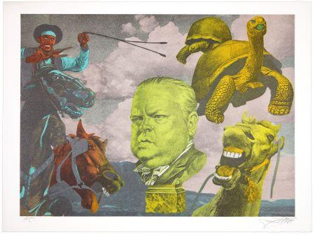 Литография Erro - Orson Welles