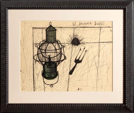 Трафарет Buffet - Oursins et Lampe à Petrole