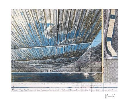 Литография Christo - Over The Arkansas River, Project U