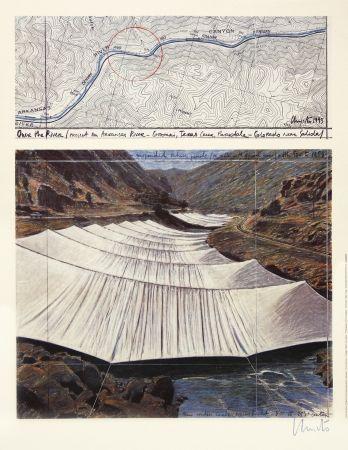 Гашение Christo - Over The River I, Above