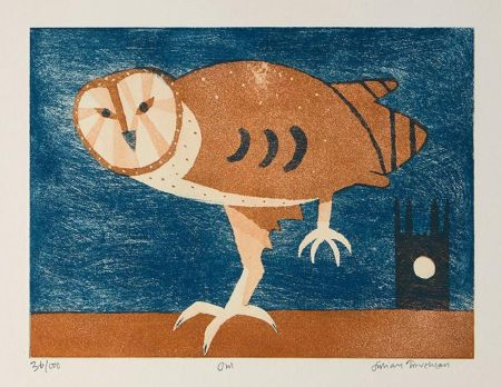 Офорт И Аквитанта Trevelyan - Owl