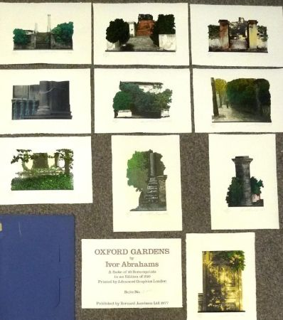 Сериграфия Abrahams - Oxford Gardens I-X