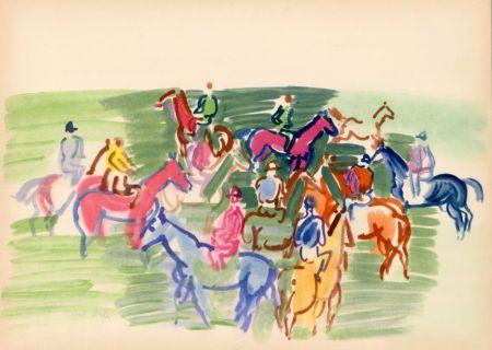 Трафарет Dufy - PADDOCK (1930) de l'album : Douze Contemporains par J. Lassaigne (1959)