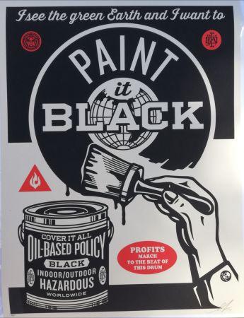 Сериграфия Fairey - Paint it black