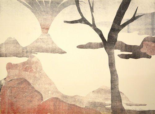 Монотип Ikemura - Paisajes con el monte Fuji 13