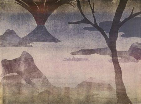 Монотип Ikemura  - Paisajes con el monte Fuji 14
