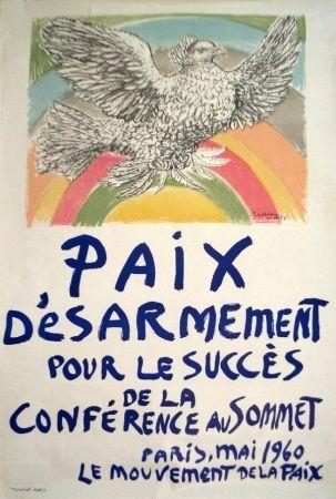 Литография Picasso -   Paix, désarmement (mai 1960)
