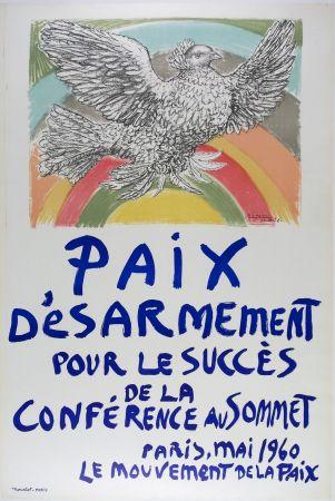 Литография Picasso - Paix D'esarmement