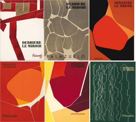 Иллюстрированная Книга Palazuelo - PALAZUELO. Collection complète des 6 volumes de la revue DERRIÈRE LE MIROIR consacrés à Palazuelo (parus de 1955 à 1978). 26 ESTAMPES ORIGINALES.
