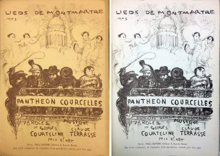 Литография Bonnard - PANTHÉON - COURCELLES, avec une couverture de Pierre Bonnard (1899)