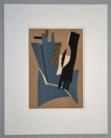 Литография Magnelli - Papier collé - 1948