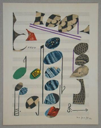 Литография Magnelli - Papier collé, 1941