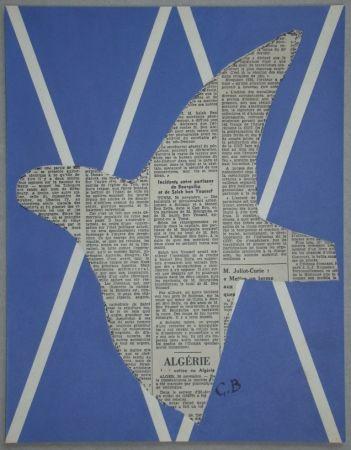 Сериграфия Braque - Papier collé pour XXe Siècle - 1955