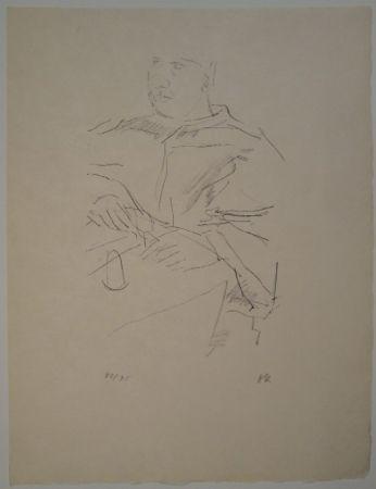 Литография Kokoschka - Papst Leo X