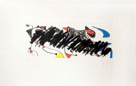 Гравюра Miró - Par dessus la haie