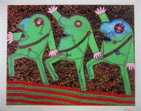 Сериграфия Baj - Parade from Baj Chez Baj