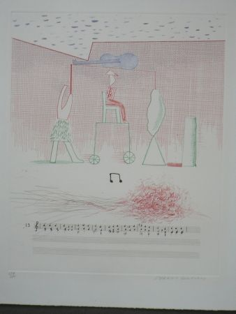 Офорт Hockney - Parade (from the blue guitar)
