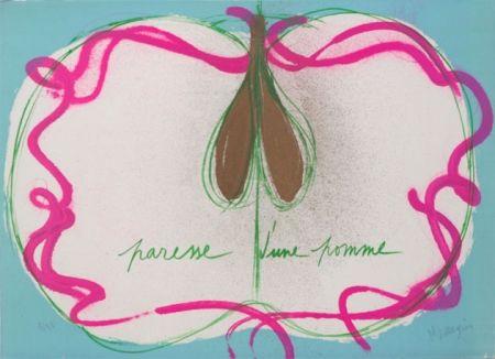 Литография Messagier - Paresse D'une Pomme