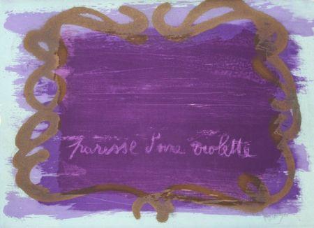 Литография Messagier - Paresse d'une violette