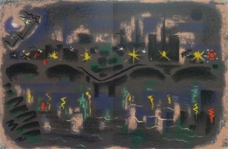 Литография Masson - Paris at night
