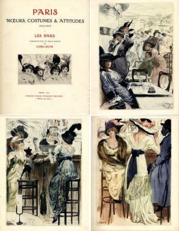 Иллюстрированная Книга Lobel-Riche - PARIS. MŒURS, COSTUMES ET ATTITUDES, 1912-1913. LES BARS (M. Guillemot).