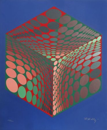 Сериграфия Vasarely - Parmenide (Red, Green, & Blue)