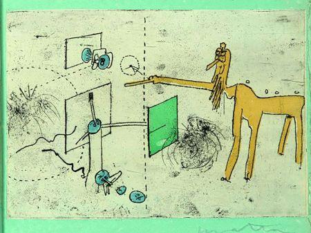 Офорт И Аквитанта Matta - PAROLES PEINTES (1959) 10 gravures originales de Max Ernst, Jacques Hérold, Wifredo Lam, Sébastian Matta et DorotheaTanning. Poèmes d'Alain Bosquet.