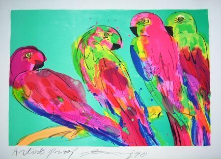 Литография Ting - Parrots