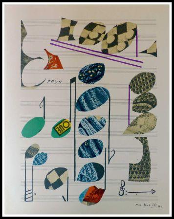 Литография Magnelli - PARTITION MUSICALE