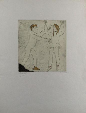 Офорт И Аквитанта Manzu - Passo di danza I