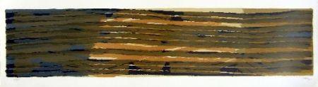 Литография Ubac - Paysage aux sillons 5