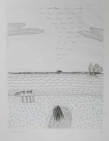 Гравюра Сухой Иглой Fassianos - Paysage de mer