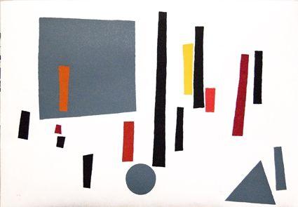 Сериграфия Goeritz  - Paysage Géométrique