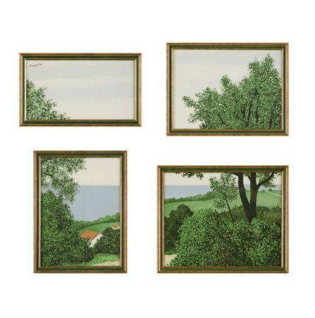 Литография Magritte - Paysage ou Profondeur de la Terre