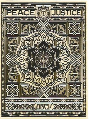 Сериграфия Fairey - Peace and Justice Ornament (Black)