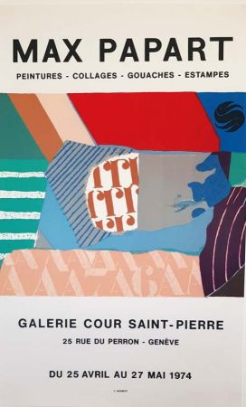 Литография Papart - Peintures Collages  Gouaches  Estampes Galerie Cour St Pierre