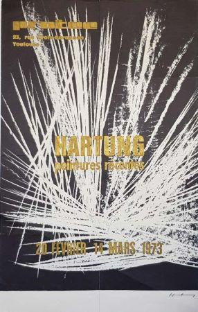 Гашение Hartung - Peintures Recentes  Exposition de Toulouse