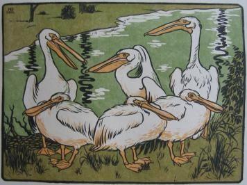 Гравюра На Дереве Berthold - Pelikane