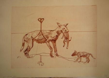 Офорт И Аквитанта Smith - Perros de piedra I C