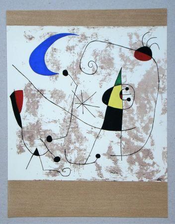 Трафарет Miró - Personnage dans la nuit