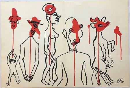 Литография Calder - Personnages I (1966)
