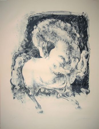 Литография Erni - Pferd