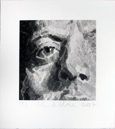 Сериграфия Close - Phil (detail)